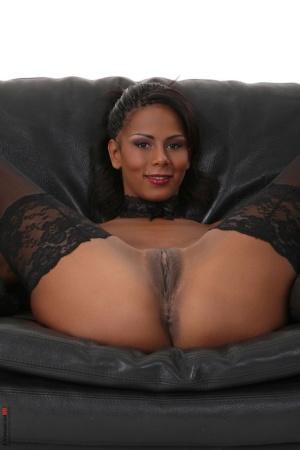 Ebony Pussy In Nylon Porn